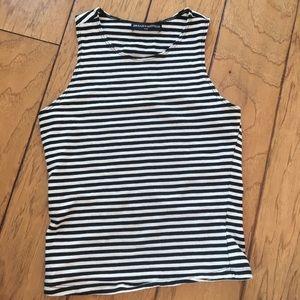 Brandy Melville black white striped small tank top